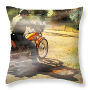 On The Road Again Throw Pillow