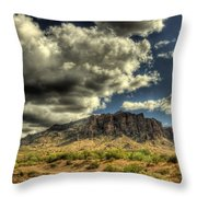On The Superstitions  Throw Pillow