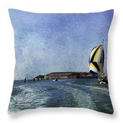 On The Water 2 - Venice Throw Pillow