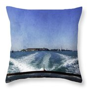 On The Water 5 - Venice Throw Pillow