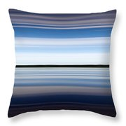 On The Water Abstract Throw Pillow