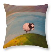 On Top Of Ole Meadow Throw Pillow
