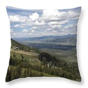 On Top Of Rendezvous Mountain Throw Pillow