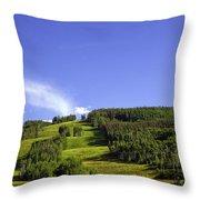 On Vail Mountain II Throw Pillow