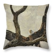 On Wings High Throw Pillow