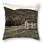 Once Upon A Mountainside Sepia Throw Pillow