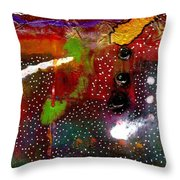 Once Upon A Snowy Night Throw Pillow