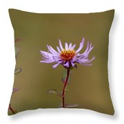 One Blossom Left Throw Pillow