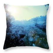 One Blue Morning Throw Pillow