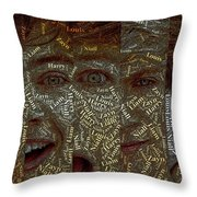 One Direction Faces Mosaic Throw Pillow