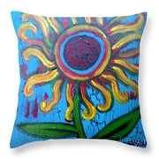 One Flower Throw Pillow