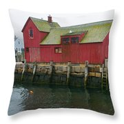 One Foggy Afternoon In Spring Throw Pillow