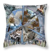 One Heart Throw Pillow by Leslie Kell