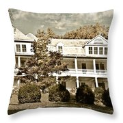 One Hundred Year Old Mountain Inn Throw Pillow