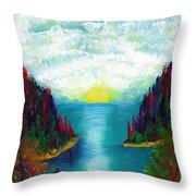 One More Sunset Throw Pillow