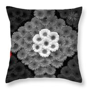 One Red Flower Throw Pillow