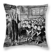 One-room Schoolhouse, 1883 Throw Pillow
