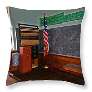 One Room Schoolhouse Throw Pillow