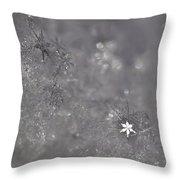 One Shining Snowflake Throw Pillow
