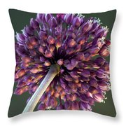 Onion Flower Throw Pillow