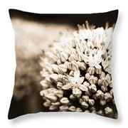Onion Flowers Throw Pillow