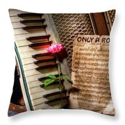 Only A Rose II Throw Pillow
