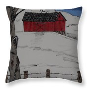 Only A Winter Day Throw Pillow
