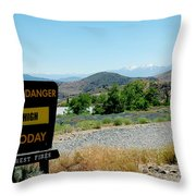 Only You Can Prevent Wildfires Throw Pillow