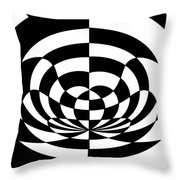 Op Art 2 Throw Pillow by Methune Hively