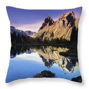 Opabin Lakes In Yoho National Park Throw Pillow