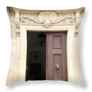 Open Church Door - Germany Throw Pillow