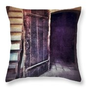 Open Door By Staircase Throw Pillow