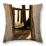 Open Door Policy Throw Pillow