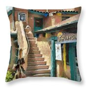 Open For Business Throw Pillow by Jeff Kolker