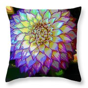 Open For Pleasure Flowart Throw Pillow