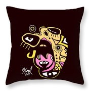 Open Wide Full Color Throw Pillow