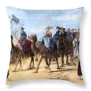 Opening Of The Suez Canal Throw Pillow