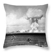 Operation Crossroads, Able Detonation Throw Pillow