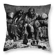 Opium Addicts, 1868 Throw Pillow