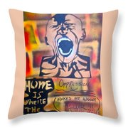 Oppression Makes Me Wanna Holler Throw Pillow