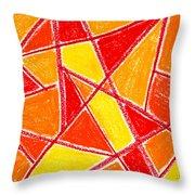 Orange Abstract Throw Pillow