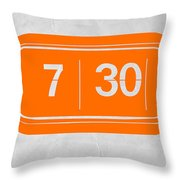 Orange Alarm Throw Pillow