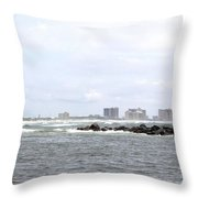 Orange Beach From The Gulf Throw Pillow