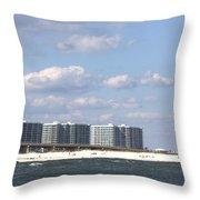 Orange Beach Throw Pillow