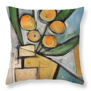 Orange Blossom Special Throw Pillow