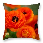 Orange Bulbs Throw Pillow