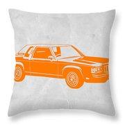 Orange Car Throw Pillow by Naxart Studio