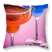 Orange Cobalt Margarita Throw Pillow