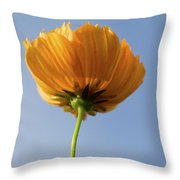 Orange Cosmos Too Throw Pillow