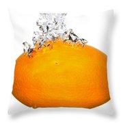 Orange Drop Throw Pillow